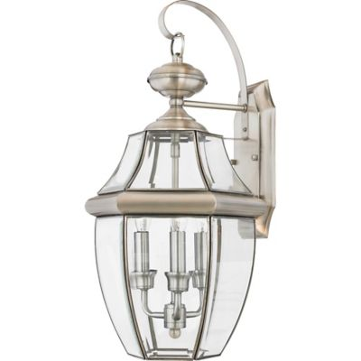 Newbury Outdoor Large Wall Lantern in Pewter