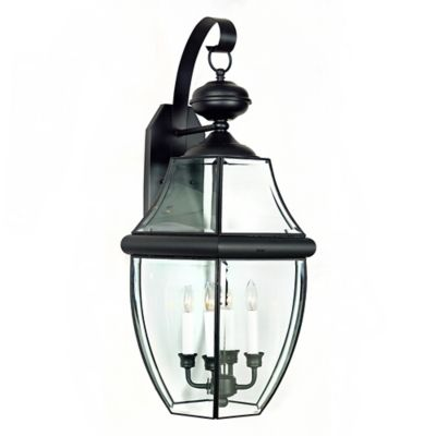 Quoizel Newbury Outdoor Extra-Large Wall Lantern in Mystic Black