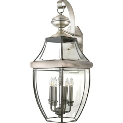 Quoizel Newbury Outdoor Extra-Large Wall Lantern in Pewter