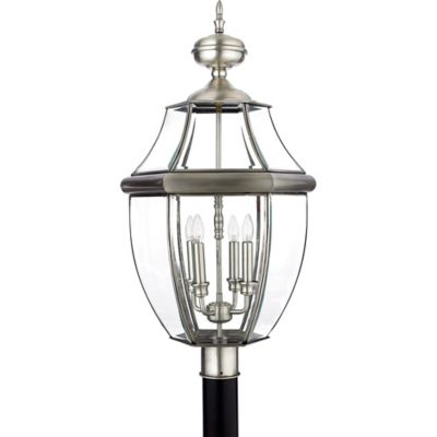 Quoizel Newbury Outdoor Extra-Large Post Lantern in Pewter