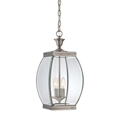 Quoizel Oasis Ceiling Mount Outdoor Hanging Lantern in Pewter