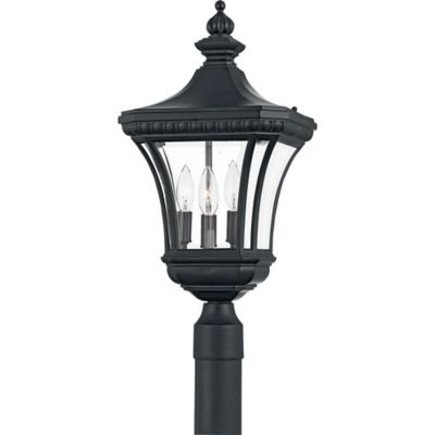 Quoizel Devon Outdoor Large Post Lantern in Mystic Black