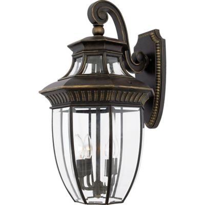 Quoizel Georgetown Outdoor Large Wall Lantern in Imperial Bronze