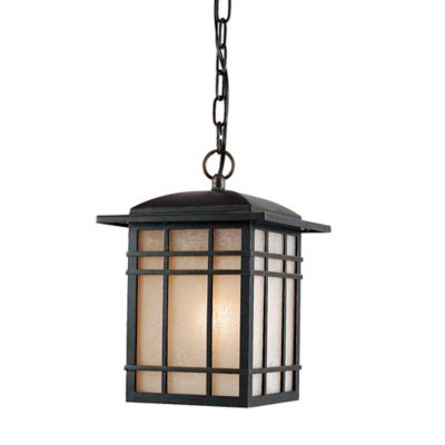 Quoizel Hillcrest Outdoor Medium Hanging Lantern in Imperial Bronze with CFL Bulb