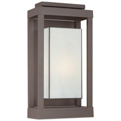 Quoizel Powell Outdoor Wall Lantern in Western Bronze