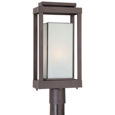 Quoizel Powell Outdoor Post Lantern in Western Bronze