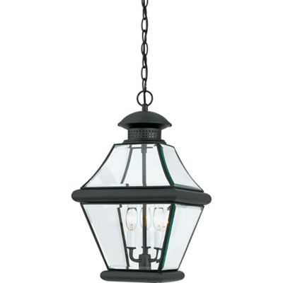 Quoizel Rutledge Outdoor Large Hanging Lantern in Mystic Black