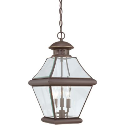 Quoizel Rutledge Outdoor Large Hanging Lantern in Medici Bronze