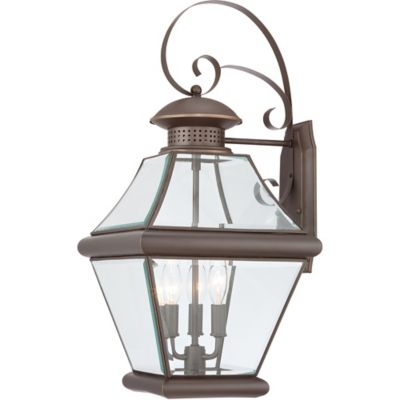 Quoizel Rutledge Outdoor Large Wall Lantern in Medici Bronze
