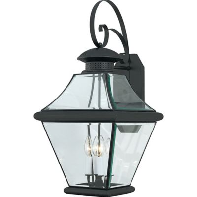 Quoizel Rutledge Outdoor Extra-Large Wall Lantern in Mystic Black