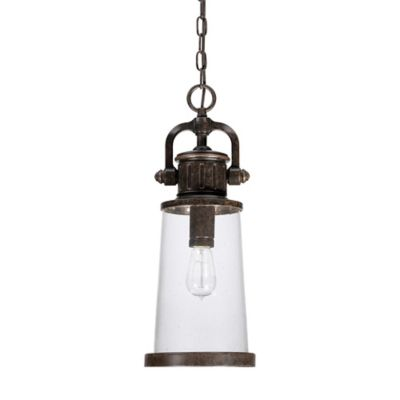 Quoizel Steadman Ceiling Mount Outdoor Hanging Lantern in Imperial Bronze