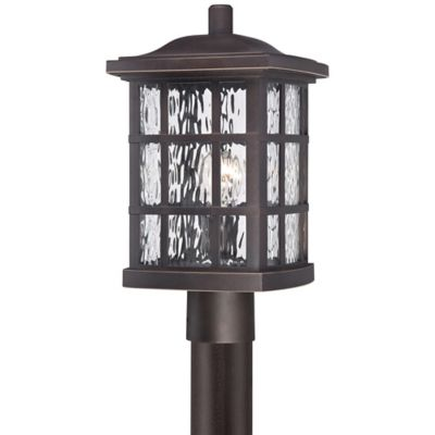 Quoizel Stonington Outdoor Post Lantern in Palladian Bronze