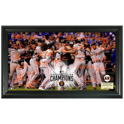 MLB San Francisco Giants 2014 World Series Champions Celebration Signature Field Frame