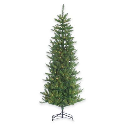 7.5-Foot Narrow Pine Tree Pre-Lit with 400 Clear Lights