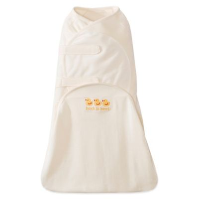 HALO® Size Small SwaddleSure™ Cotton Adjustable Swaddling Pouch in Cream