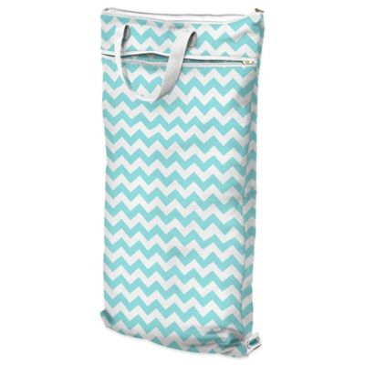 Planet Wise Hanging Wet/Dry Bag in Teal Chevron