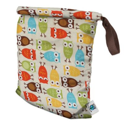 Planet Wise Medium Roll-Down Wet Bag in Owl