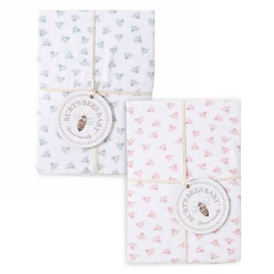 Burt's Bees Baby™ Honeybee 100% Organic Cotton Changing Pad Cover in Sky