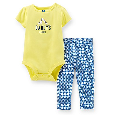 "Carter's® 2-Piece ""Daddy's Little Girl"" Bodysuit and Pant ..."