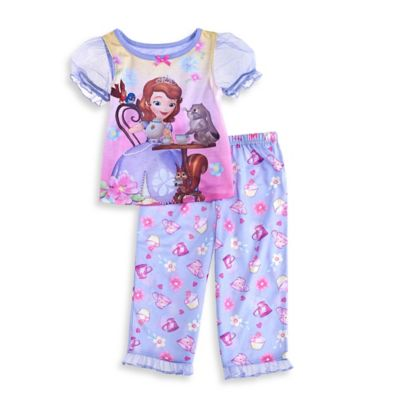 Disney® Sofia the First Size 2T 2-Piece Tea Party Pajama Set in Purple