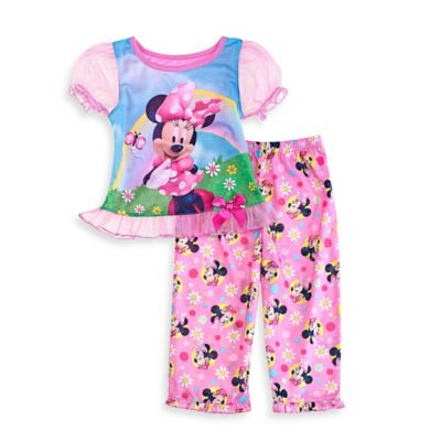 Disney® Minnie Mouse Size 4T 2-Piece Rainbow Pajama Set