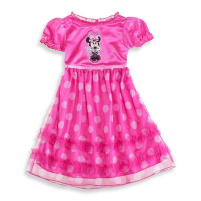 Disney® Size 2T Minnie Mouse Ruffle Dress Up Gown in Pink