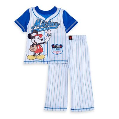 Disney® Size 2T 2-Piece Mickey Mouse Baseball Set in Blue/White