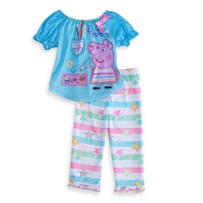 Nickelodeon™ Size 2T 2-Piece Peppa Pig Pajama Set in Blue