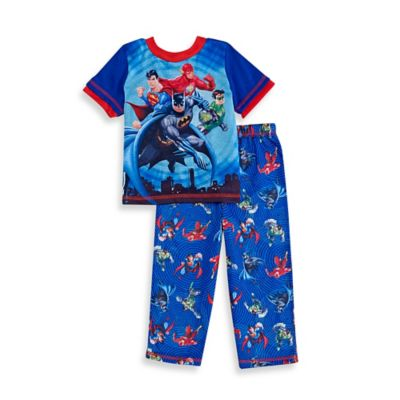 DC Comics Size 2T 2-Piece Justice League Pajama Set in Blue