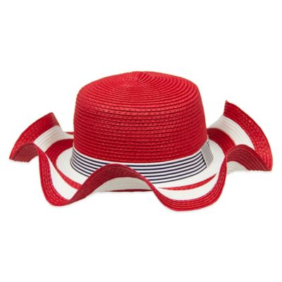 Aquarius Limited Infant Floppy Straw Hat in Red