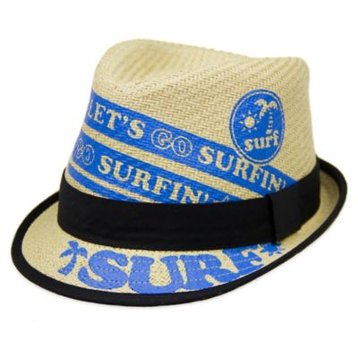 "Aquarius Limited Infant ""Let's Go Surfing"" Straw Fedora"
