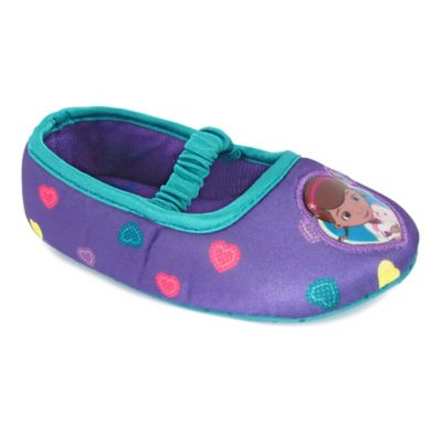 Disney® Doc McStuffins Size 12-24M Ballerina Slipper in Purple