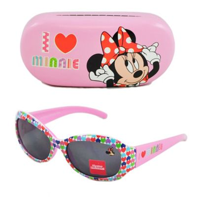 Disney® Minnie Mouse Kids' 2-Piece Sunglasses & Case Set in Black