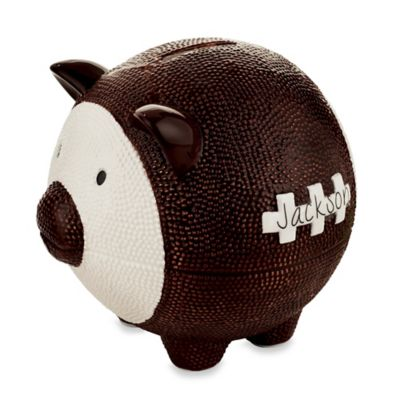 Mud Pie® 2-Piece Football Piggy Bank & Pen Gift Set