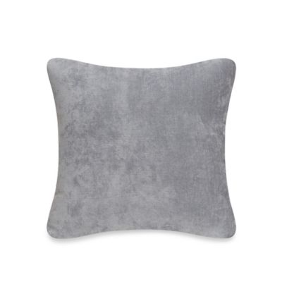 Glenna Jean Swizzle Velvet Throw Pillow in Grey