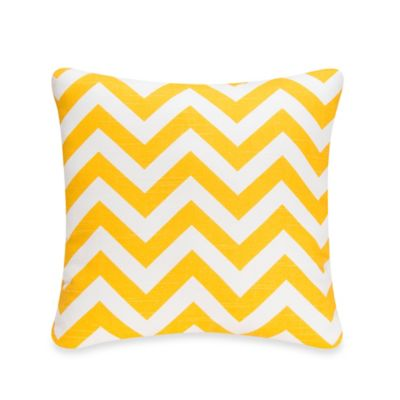 Glenna Jean Swizzle Square Chevron Throw Pillow in Yellow