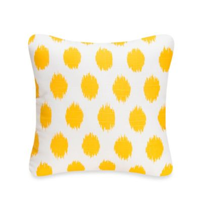 Glenna Jean Swizzle Square Dot Throw Pillow in Yellow