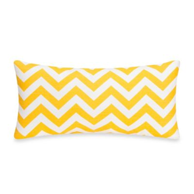 Glenna Jean Swizzle Chevron Rectangular Throw Pillow in Yellow