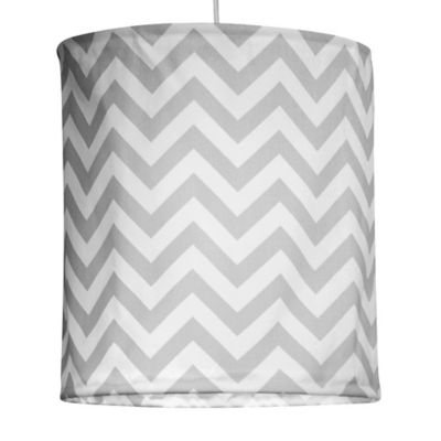 Glenna Jean Swizzle Hanging Chevron Drum Shade Kit in Grey