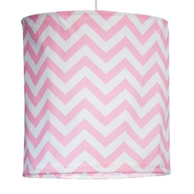Glenna Jean Swizzle Hanging Chevron Drum Shade Kit in Pink