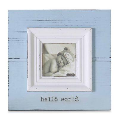 """Mud Pie® """"Hello World"""" Photo Frame in Blue"""