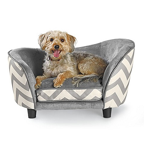 Enchanted Home Pet Chevron Snug Dog Bed In Grey
