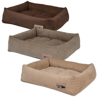 Jax & Bones SlumberJax Corduroy Large Pet Dozer Bed in Chocolate