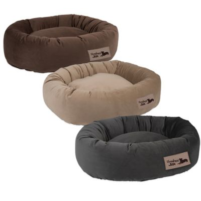 Jax & Bones SlumberJax Large Pet Donut Bed in Spa Burlap