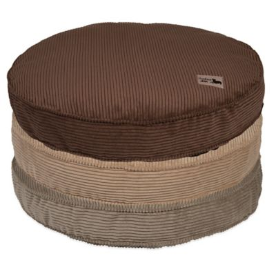Jax & Bones SlumberJax Corduroy Medium Pet Circular Pillow Bed in Chocolate