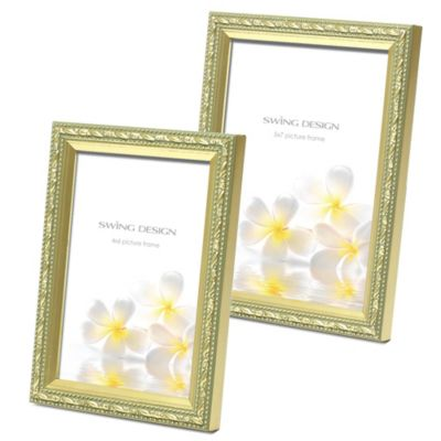 Swing Design Mercer 4-Inch x 6-Inch Wood Picture Frame in Gold