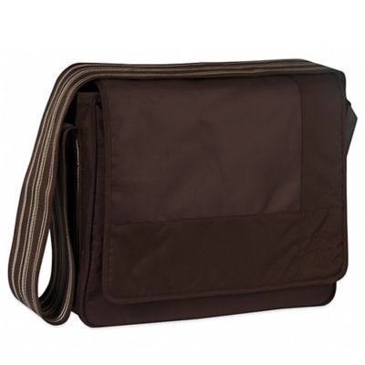 Lassig Casual Messenger Diaper Bag in Patchwork Chocolate