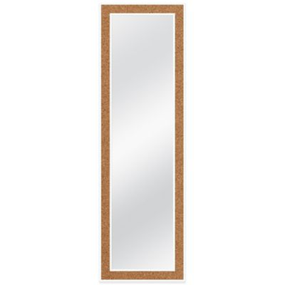 Door Solutions™ Over the Door 12-Inch x 48-Inch Cork Mirror in White