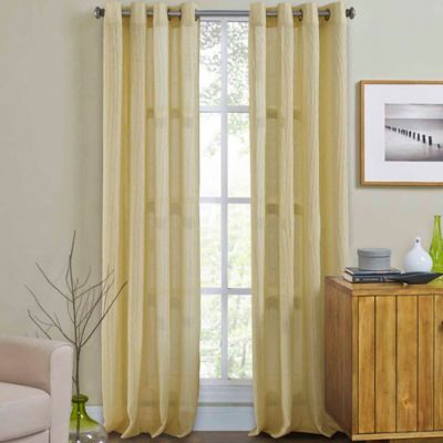 Weston 84-Inch Grommet Top Window Curtain Panel in Gold
