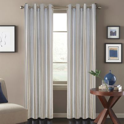 Regatta Stripe 63-Inch Window Curtain Panel in Blue